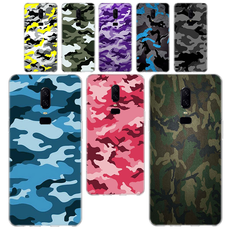 Camouflage Pattern Camo military Army <font><b>Phone</b></font> Case For OnePlus <font><b>One</b></font> <font><b>Plus</b></font> 7 Pro 5 5T 6T <font><b>6</b></font> Soft Silicagel <font><b>Phone</b></font> Case <font><b>Cover</b></font> image