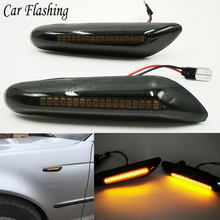 2 pçs para bmw e90 e91 e92 e93 e60 e87 e82 e46 carro pisca luzes de sinalização led indicador volta lâmpada sinal marcador lateral