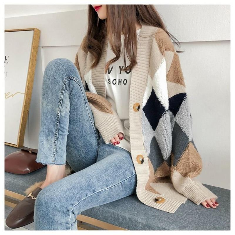 Кардиган свитер весна-осень ретро французский ленивый стиль Вязаный Кардиган женский красный кардиган средней длины сетчатый Кардиган Кур...