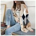 Кардиган свитер весна-осень ретро французский ленивый стиль Вязаный Кардиган женский красный кардиган средней длины