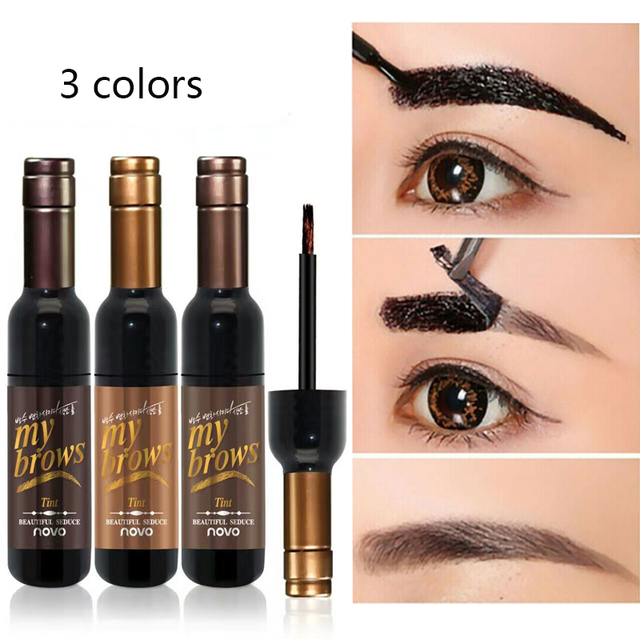 Peel-off Tattoo Eyebrow Gel Long-lasting Dye Tinted Brow Cream Waterproof Paint Makeup Eye Tint Cosmetics Black Brown Eyebrows 1