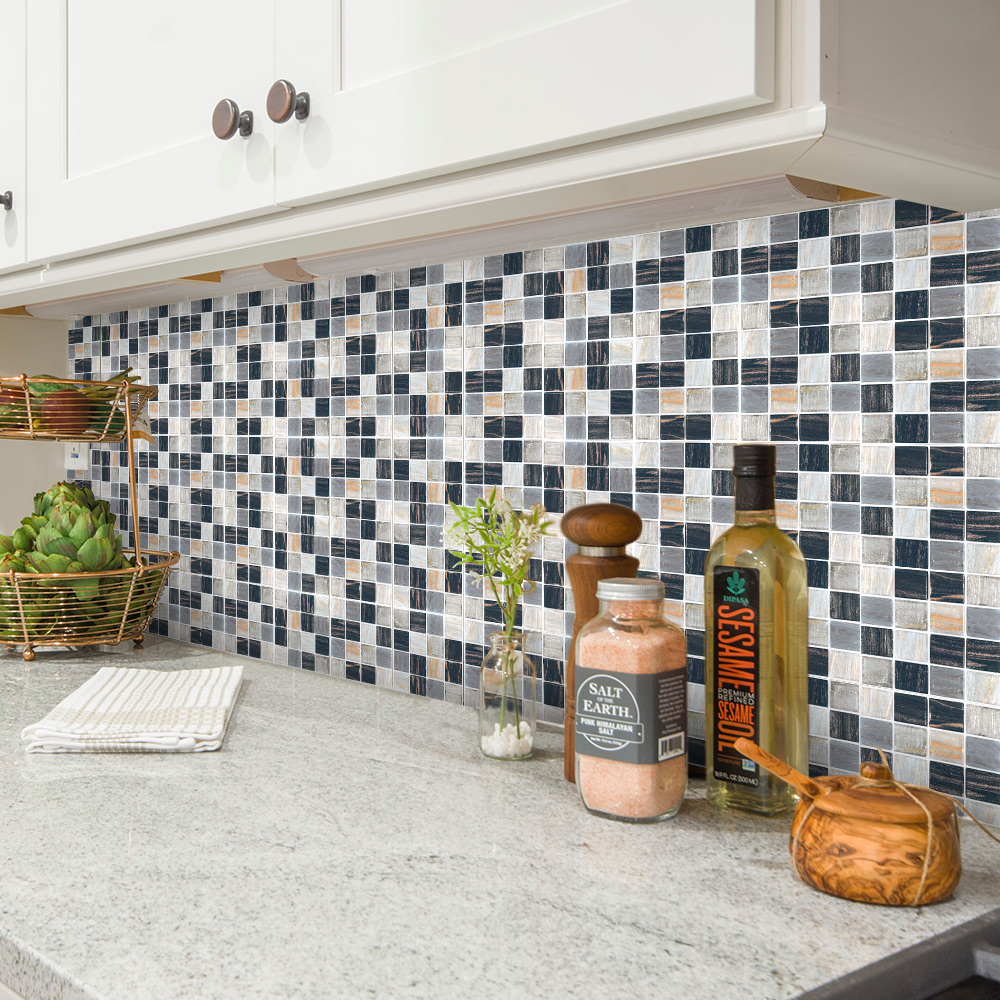 - Self Adhesive 3D Mosaic Tile Sticker Kitchen Backsplash Bathroom