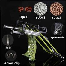 цена на Laser Slingshot G5 Outdoor Hunting Fishing Slingshot Catapult Compound Bow Can Shooting Arrows Powerful Sling Shot Crossbow Bolt