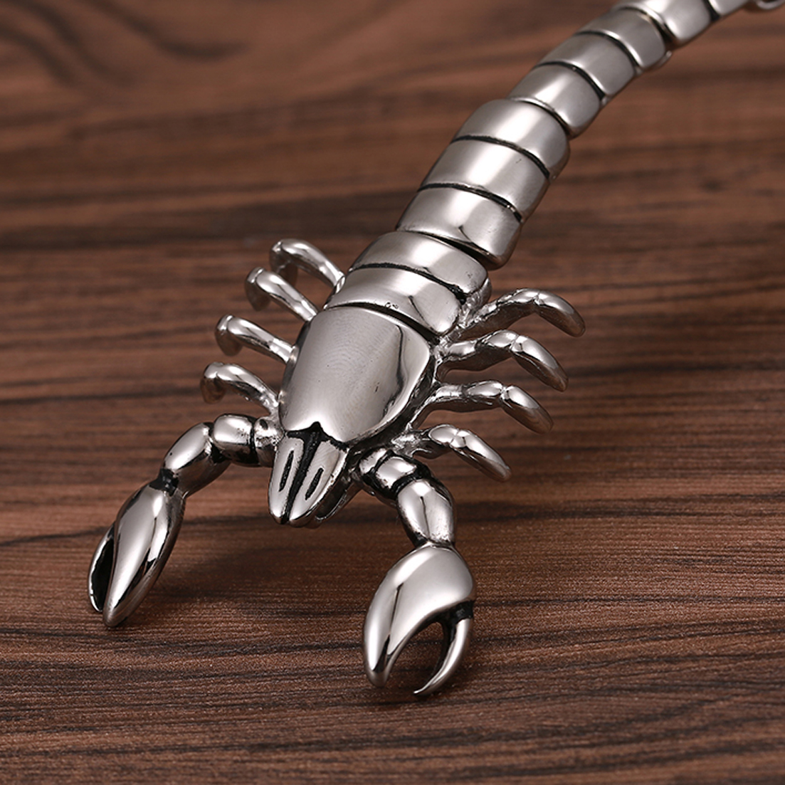 de aço inoxidável escorpião modelo pulseiras biker
