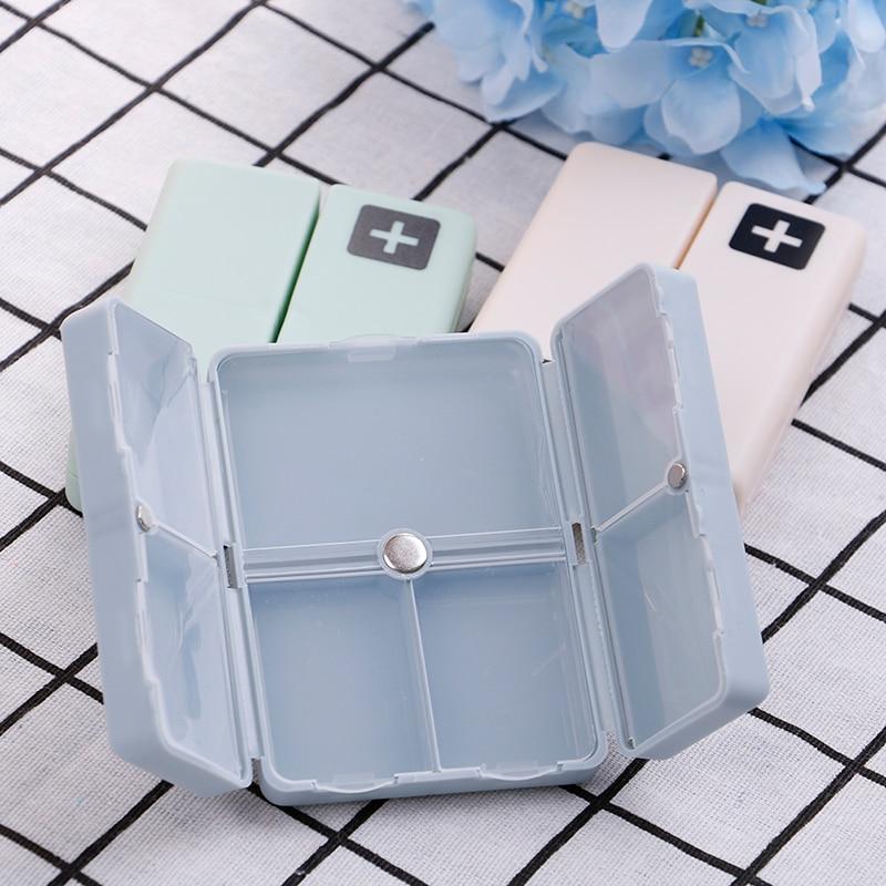 1PC 7 Day Pill Storage Magnet Box Medicine Container Holder Dispenser Case Organizer