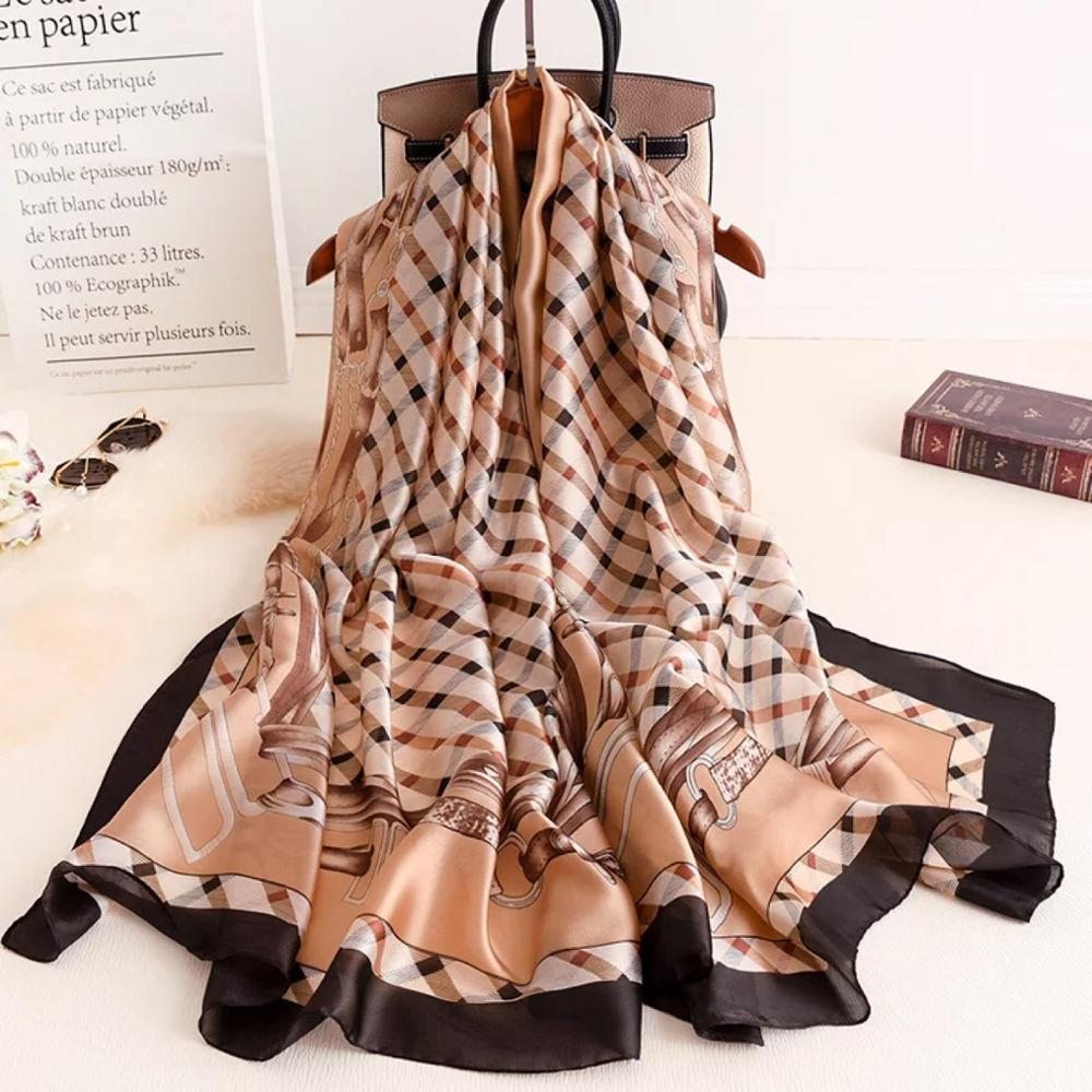 Summer Autumn Scarves Women Shawl Lady Wrap Female Silk Scarf Soft Sunscreen Bandana Chiffon Muffler Pareo Foulard Free Shipping