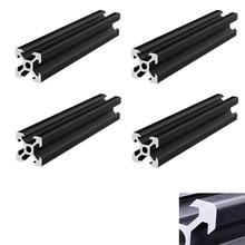 4 шт./лот черный 2020 V-слот европейского стандарта, анодированный алюминиевый профиль, линейная направляющая для ЧПУ 3D-принтера