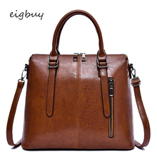 Women Top-handle Bags Korean Style Big  Leather Handbags Shopper Bag Brown Business Sac Main Femme