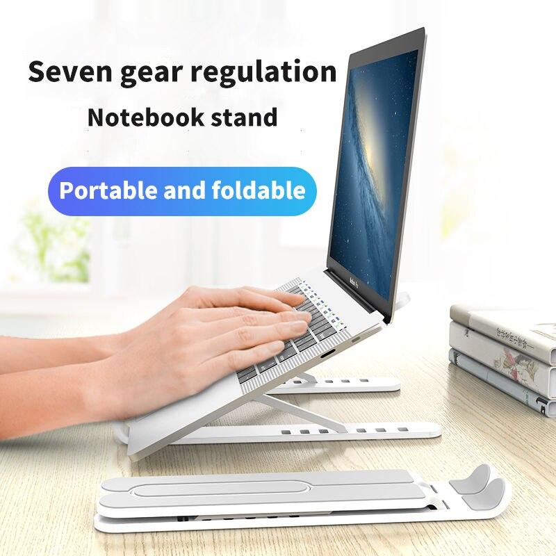 Laptop Stand Holder Adjustable Laptop Riser Holder Portable Foldable Ergonomic Notebook Bracket 7-17inch for MacBook Air Pro