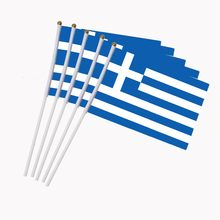 5pcs Greek National Flags on Stick,International World Country Stick Flags Banners,Party Decorations for Olympics,Sports Clubs(China)