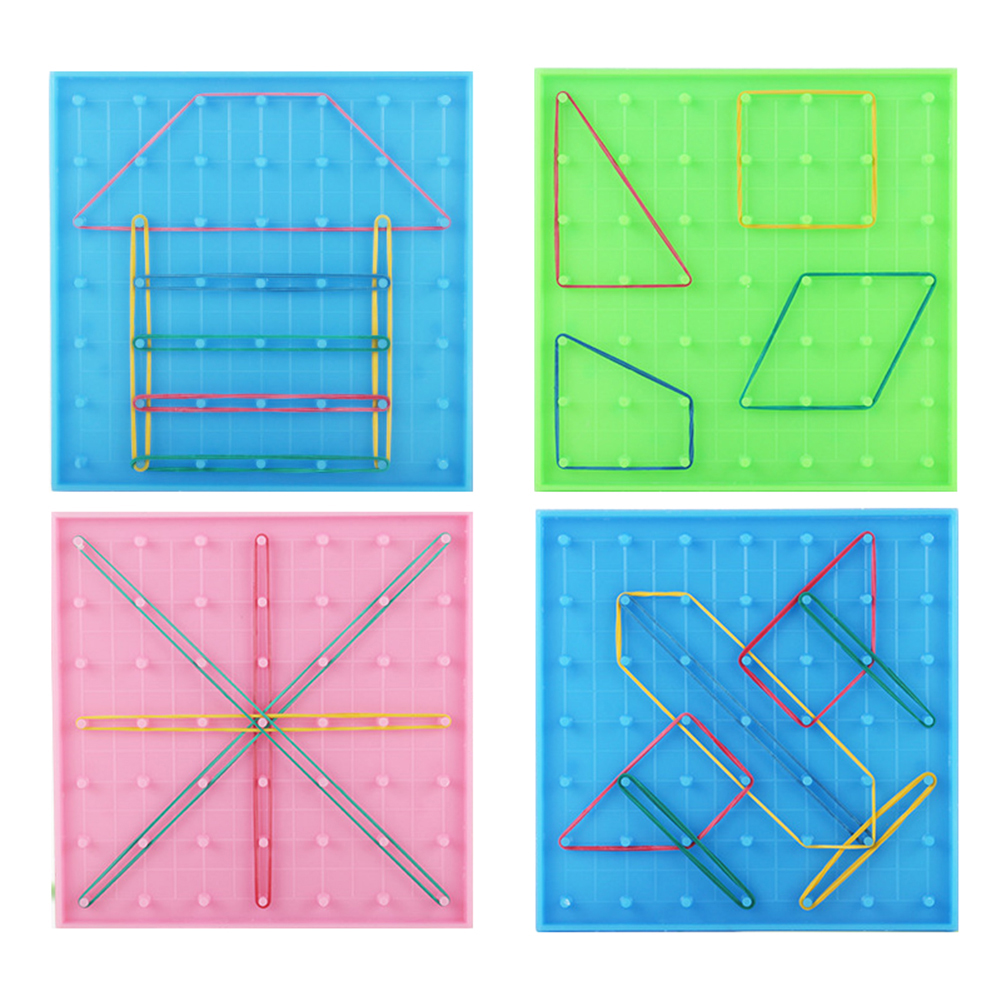 Double Sided Peg Geoboard Rubber Tie Graphics Learning Kids Educational Toy Gift For Children Kids Primary Math Education