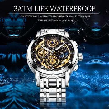 WISHDOIT 2020 New Fashion Men Watch  Calendar Stainless Steel Top Brand Luxury Sports Chronograph Quartz Watch Relogio Masculino 3