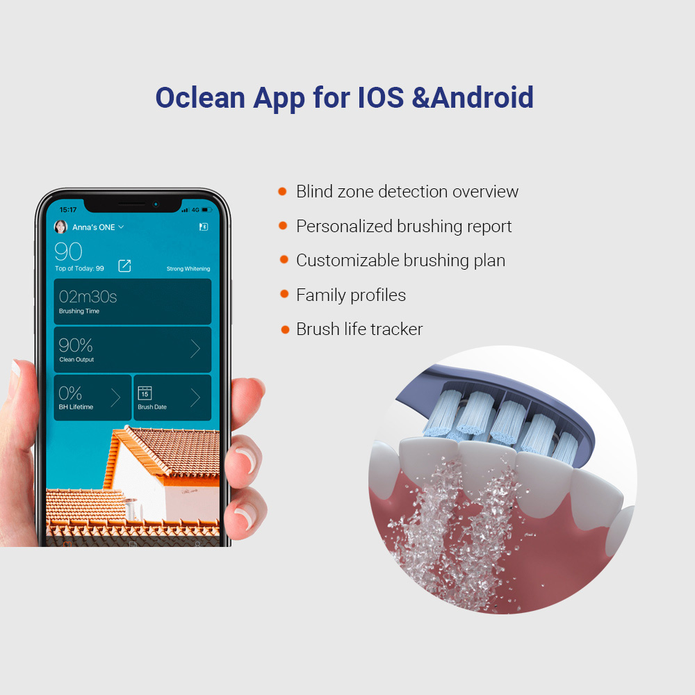 Global Version Oclean X Pro Sonic Electric Toothbrush Adult IPX7 Ultrasonic automatic Fast Charger Tooth Brush With Touch Screen