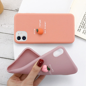 Image 3 - USLION 3D Candy Color Avocado Letter Soft Phone Case For iPhone 11 Pro XS MAX XR X Silicone Case For iPhone 7 6 6S 8 Plus Cover