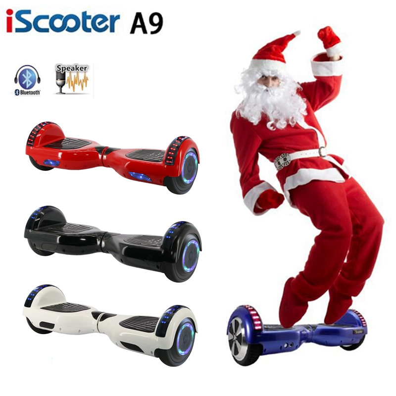 IScooter 6.5 Inch Electric Hoverboard Smart Bluetooth Speaker Unicycle Skateboard Steering-wheel Carry Bag Self Balance Scooter