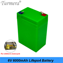 Turmera 6V 6AH Lifepo4 Battery Replace Storage Batteries for Children Electric Car and Motorcycle Electronic Emergency Light Use