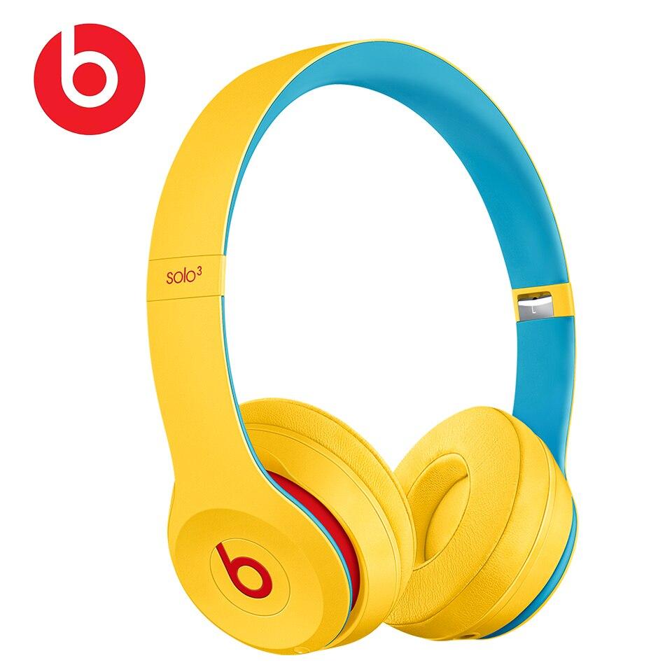 Beats wireless headphones solo 3 on-ear wireless bluetooth headphones gaming sport headset deep bass earphone hands-free with mic beats by dre solo3