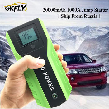 GKFLY High Power Car Jump Starter Car Emergency Starting Device 12V 1000A Car Battery Power Bank Booster Car Battery Charger image