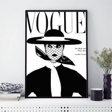 NOOG Black And White Nordic Decoration Wall Art Canvas Posters and Prints Painting Picture for Living Room Self Portrait