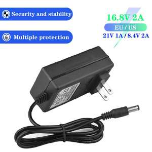 Lithium-Battery-Charger 1A 18650 2A Eu/Us-Plug 21V 100-240V DC