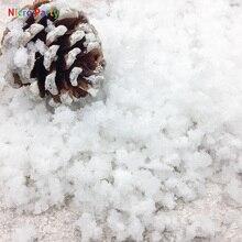 Nicro 8 г/пакет белый снег Рождество Свадьба поддельные волшебный мгновенный снег пушистый супер абсорбент украшения Дерево снег порошок# ot185