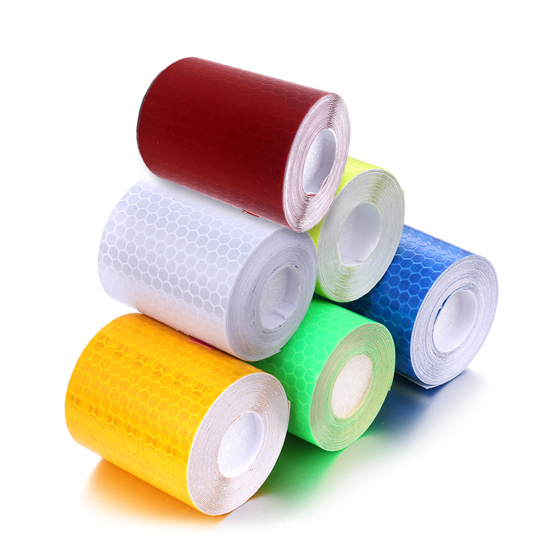 300cmx5cm Car Stickers Reflective Tape Waterproof Warning Strip Adhesive Tape Night Safety Cycling Reflective Safety Stickers