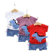 Baby Costume Pants Outfits Baby-Boy-Clothes-Set T-Shirt Short-Sleeve Girl 2pcs Age