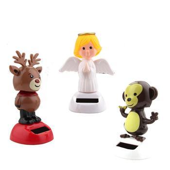 Hot Novelty Solar Toys Adorable Solar Powered Dancing Panda Santa Claus Animal Toy For Home Desk Car Decoration Kids Toys Gift 4