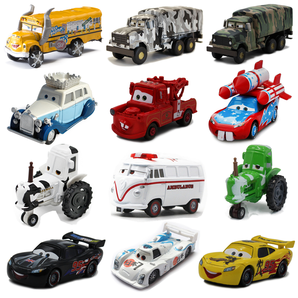 2020 Disney Pixar Toy Car McQueen Mater Cow School Bus Limited Edition 1:55 Diecast Vehicle Metal Alloy Boy Toy Birthday Gift