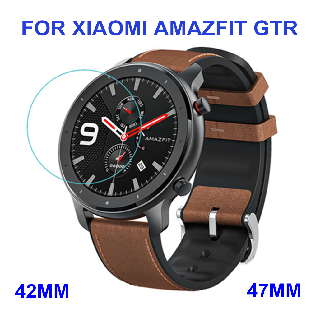 2 Pcs Tempered Glass Screen Protector Clear Film For Xiaomi Huami Amazfit GTR 47MM 42MM Smart Watch Wristbands Accessories
