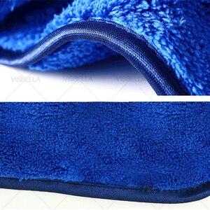 Image 5 - Toalla de microfibra para el cuidado del coche, 40x50cm, toalla de lavado y secado de felpa, paño de limpieza de coche de poliéster de peluche grueso