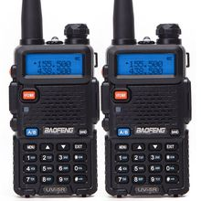 2 Stuks Baofeng BF UV5R Amateur Radio Draagbare Walkie Talkie Pofung UV 5R 5W Vhf/Uhf Radio Dual Band Twee way Radio Uv 5r Cb Radio
