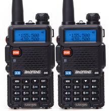 BF-UV5R 2PCS Baofeng Rádio Amador Portátil Walkie Talkie Pofung UV-5R 5W VHF/UHF Rádio Dual Band Dois maneira de Rádio UV 5r Rádio CB