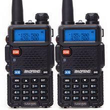 Baofeng BF UV5R walkie talkie portátil, Radio de banda Dual, 5W, VHF/UHF, UV 5R, 2 uds.