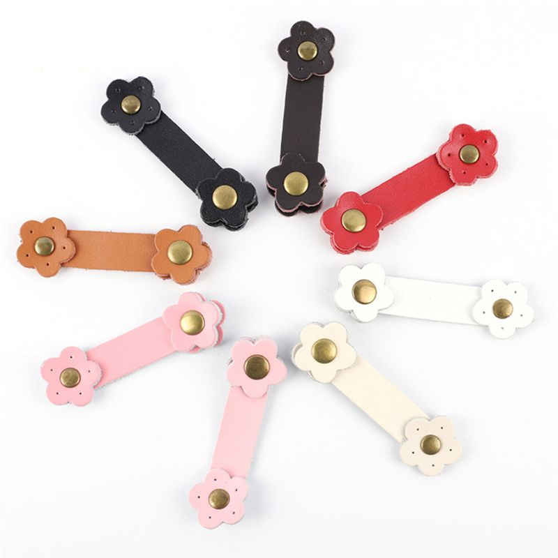Soft Leather Buckles Purse Hasp DIY Bag Wrist Strap Plum Flower Tool for Sewing Craft Project DIY Replacement Accessories