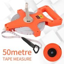 1PC 50M/165Ft  Meter Open Reel Fiberglass Tape Measure Inch Metric Scale Impact Resistant Plastic Practical Measure Tools