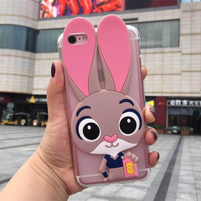 3D Cute Rabbit Phone Case for Xiaomi Mi 9T Pro CC9 Meitu A1 A2 A3 Lite Pocophone F1 Mi 6X 5X Play Black Shark Back Cover Cases