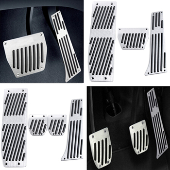Car Accessory Aluminum Footrest Pedal Pad Set For BMW X1 M3 E30 E36 E39 E46 E87 E90 E91 E92 E93 car-styling image