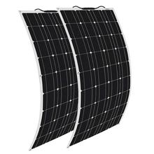 XINPUGUANG 2pcs 120w Solar Panel Semi Flexible 240W System Photovoltaic for 12v 24v Battery Yacht RV Car Boat Charge