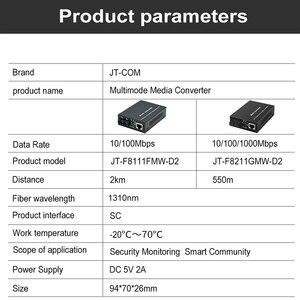 Image 4 - Gigabit Ethernet Fiber Media Converter Met Een Ingebouwde 1Gb Multimode Sc Transceiver, 10/100/1000M RJ45 Om 1000Base LX, Tot 2Km