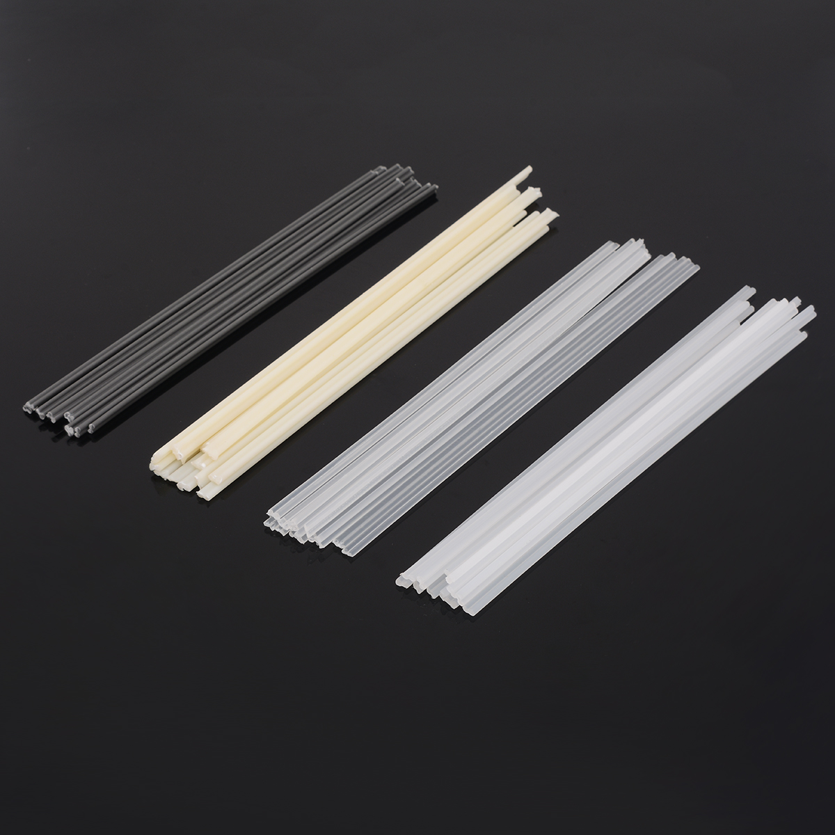 50Pcs Plastic Welding Rods ABS/PP/PVC/PE Welding Sticks 200x5x2mm For Plastic Welder For Soldering