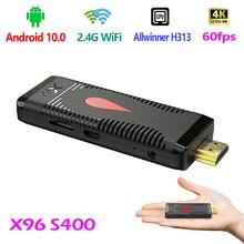 X96S400 Android 10.0 Smart TV Box 4K Allwinner H313 Quad Core 2.4G WiFi 2020 New Set Top Box Media Player LPDDR 32bit
