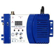 HDM68 модулятор цифровой РЧ модулятор HDMI AV в РЧ конвертер УКВ УВЧ PAL/NTSC Стандартный Портативный модулятор для AU Blue