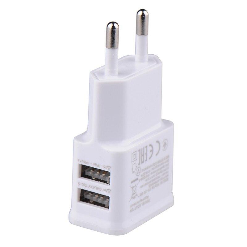 5 В, 2 А, адаптер с европейской вилкой, USB, настенное зарядное устройство для samsung, iphone, Xiaomi, зарядное устройство для мобильного телефона, для ipad,...