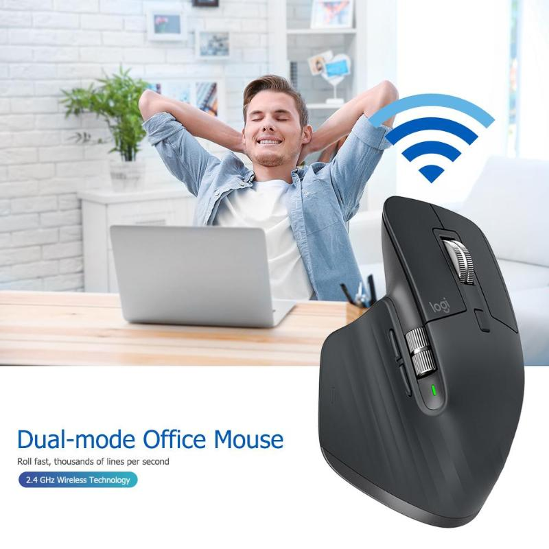 Logitech MX Master3 Wireless Bluetooth Mouse 2.4GHz 4000DPI Adjustable Dual Mode Flow Speed Mice high precision Mouse for work - 5