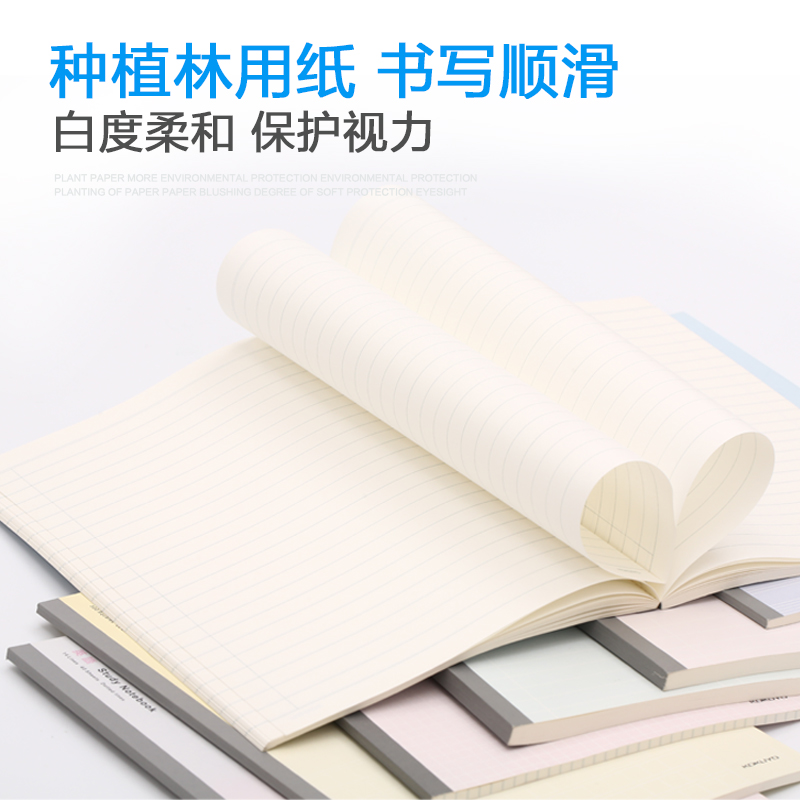 KOKUYO Simple Student Stationery Campus Study A5 B5 Notebook Square English All Subject Memo Columas Blank WCN-DNA58