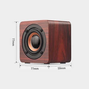 Image 5 - Wooden Bluetooth Mini Speaker 1200mAh High Power Wireless Subwoofer Portable Bass Column