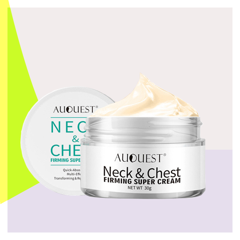 Neck Firming Cream, Anti Aging Moisturizer for Neck & Décolleté, Double Chin Reducer, Skin Tightening Cream