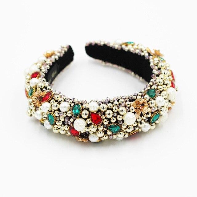 Heavy Crystal Color Shiny Diamond Headband  4