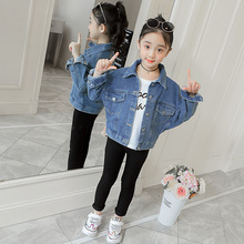 Brand Jacket Children 2019 New Baby Girls Solid Loose Denim Casual Jean Fashion Child Coat for Clothes Tops